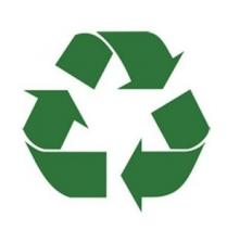 Recyclerie professionnels symbole recyclage fleches vertes2